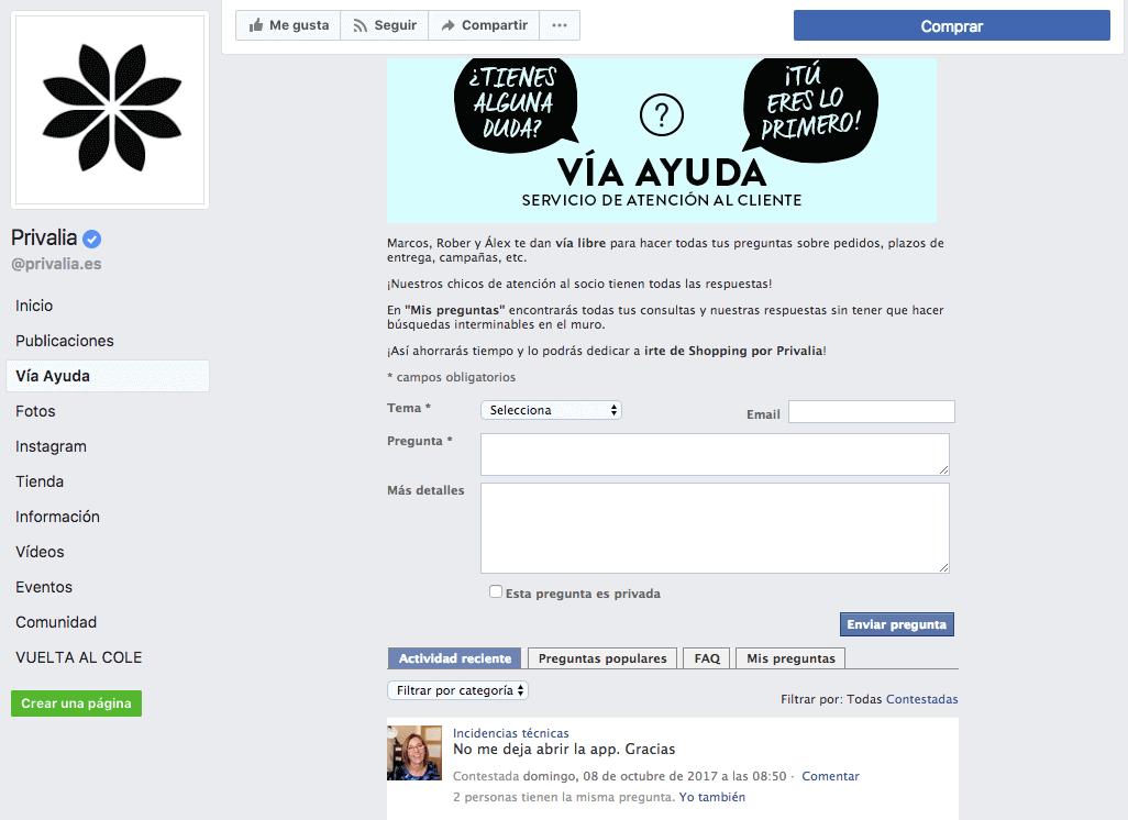 privalia-fanpage-facebook-atencion-cliente
